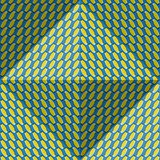 Optical motion illusion abstract background. Ellipse patterned seamless pattern in tetrahedral pyramid form.  Royalty Free Stock Photography