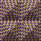 Optical motion illusion abstract background. Spotted seamless pattern in tetrahedral pyramids form.  Stock Image