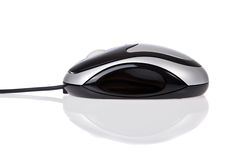 Optical mouse with cord isolated on white Stock Image