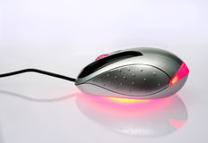Optical mouse and reflection Royalty Free Stock Photos