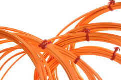 Optical multimode patch cable Stock Photography