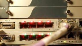 Optical multiplexer stock footage