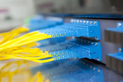Optical network cables and servers Stock Photography