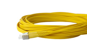 Optical patch cord. Stock Photography