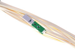 Optical patch cord for passive optical network Stock Photo