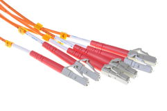 Optical patch cords Stock Photos