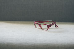 Optical red glasses Stock Photography