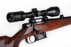 Optical sight. The reliable optical sight, gives confidence to the hunter in game defeat on considerable distances Stock Image