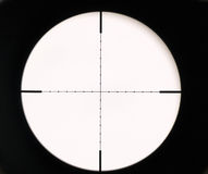 Optical sight. On a rifle Royalty Free Stock Photo