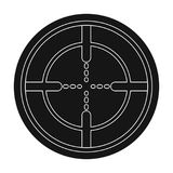 Optical sight.Paintball single icon in black style vector symbol stock illustration web. Stock Image
