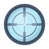 Optical sight.Paintball single icon in cartoon style vector symbol stock illustration web. Stock Photography