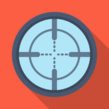 Optical sight.Paintball single icon in flat style vector symbol stock illustration web. Stock Photo