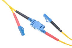 Optical single mode LC patch cord Stock Image