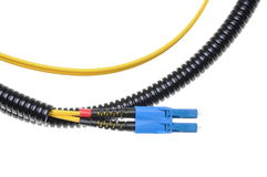 Optical single mode LC patch cord Royalty Free Stock Photography