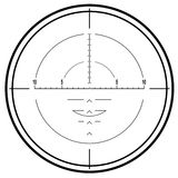 Optical sniper rifle sight Royalty Free Stock Photography