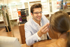 At the optical store Stock Images