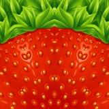 Optical strawberry background pattern. Vector illustration. Stock Photo