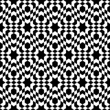 Optical Tile Pattern. Vector optical illusion tile pattern in black and white. Can be used as is or seamlessly tiled for a background stock illustration