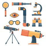Optical tools collection isolated Stock Image