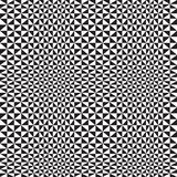 Optical Triangle Background. In black and white. Will tile seamlessly for a psychedelic background Stock Image