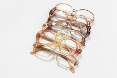 Optical vintage glasses isolated stock photos