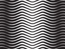 Optical wave  abstract striped background black and white Royalty Free Stock Image