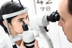 At the Optician Stock Images