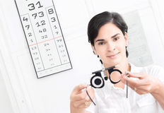 At the Optician Royalty Free Stock Image
