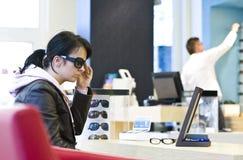 Optician and customer Royalty Free Stock Photo