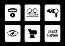 Optician icons set Royalty Free Stock Photography