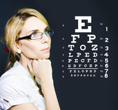 Optician Or Optometrist Wearing Eye Wear Glasses Royalty Free Stock Photos