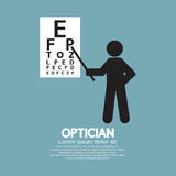 Optician Pointing To Snellen Chart Royalty Free Stock Photography