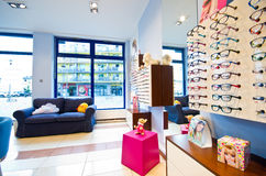 Optician's salon for children's glasses Royalty Free Stock Image