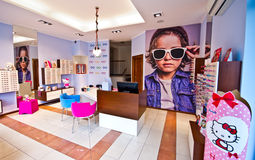 Optician's salon for children's glasses Stock Photo