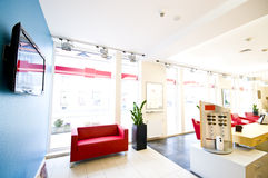 Optician salon. Interior of a modern optician salon Royalty Free Stock Image