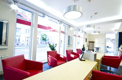 Optician salon. Interior of a modern optician salon Stock Image