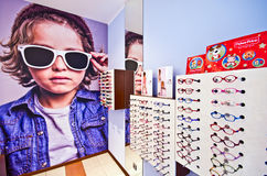 Opticians shop for children Stock Image
