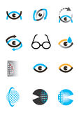 Optics eye icon set Stock Photos
