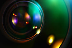 Optics in Lens Royalty Free Stock Image
