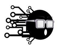 Optics tech icon Royalty Free Stock Photography
