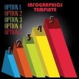 Optie vijf infographicsmalplaatje Stock Afbeeldingen