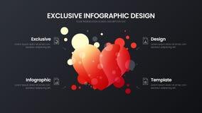 4 optiehart marketing malplaatje van de analytics het vectorillustratie De lay-out van het bedrijfsgegevensontwerp Organische inf vector illustratie