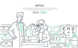 Optik - moderne Linie Entwurfsart-Netzfahne stock abbildung