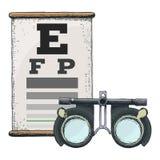 Optik und Sehschärfe lizenzfreie abbildung