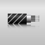 Optiklwl - kabel Stockbilder