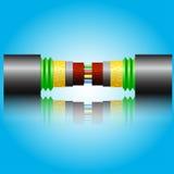 Optiklwl - kabel Stockfoto