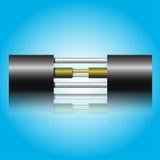 Optiklwl - kabel Stockfotografie