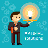 Optimal solutions concept Royalty Free Stock Images
