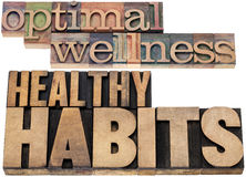 Optimal wellness and healthy habits stock image