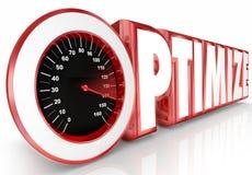 Optimieren Sie Pro die Geschwindigkeitsmesser-Wort-schnelle vervollkommnende Prozess-Leistungsfähigkeit Stockbild